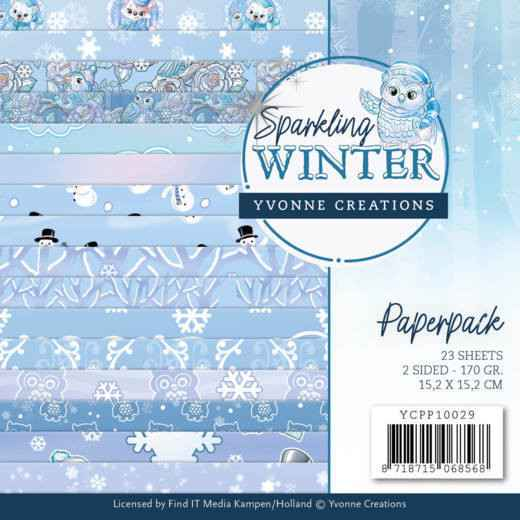 Paperpack - Yvonne Creations - Sparkling Winter  YCPP10029