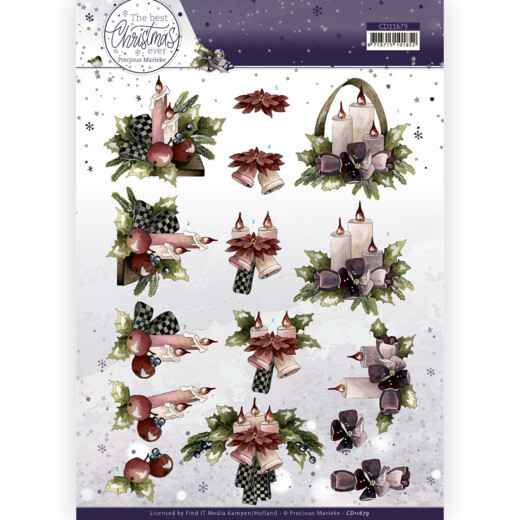 Precious Marieke - The Best Christmas Ever - Purple Flowers And Candles   CD11679