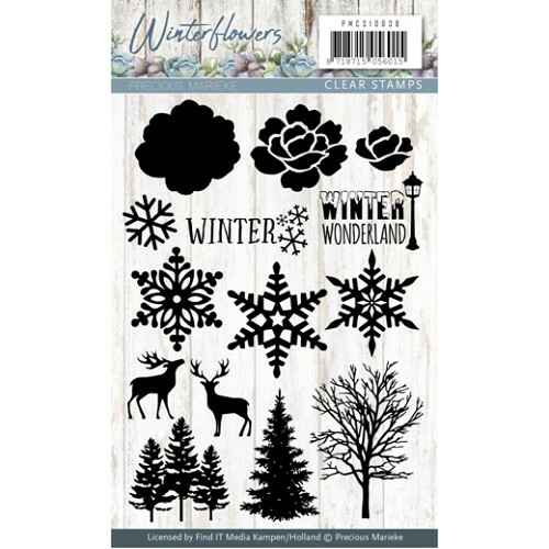 Clearstamp - Winter Flowers - PMCS10038
