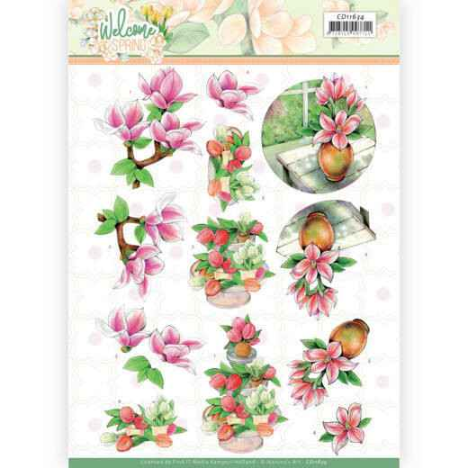 Jeanine's Art Welcome Spring - Pink Magnolia  CD11634