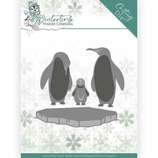 Yvonne Creations - Winter Time - Penguins on Ice   YCD10218