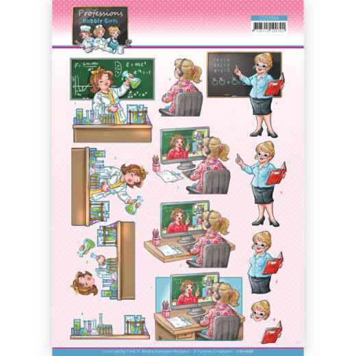 Yvonne Creations - Bubbly Girls Professions - Teacher  CD11666