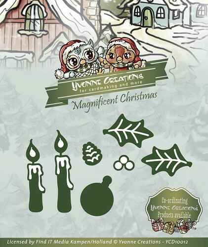 Yvonne Creations - Magnificent Christmas - Candle Set  YCD10012