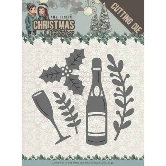 Amy Design – Christmas Wishes – champagne ADD10152