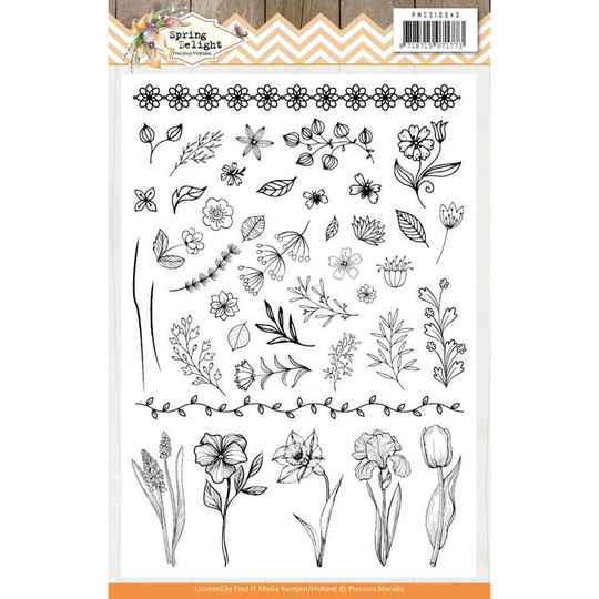 Clear Stamps - Precious Marieke - Spring Delight  PMCS10043