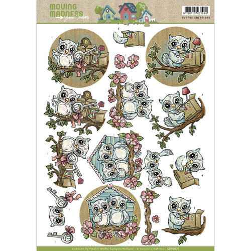 Yvonne Creations - Moving Madness - Owls  CD10871