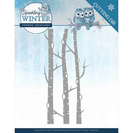 Yvonne Creations - Sparkling Winter - Birch Trees  YCD10188