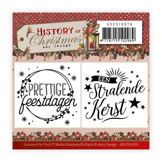Mini Clear Stamps Set - Amy Design - History of Christmas    ADCS10076