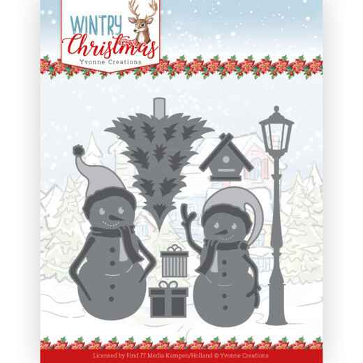 Yvonne Creations - Wintery Christmas - Snow Friends  YCD10244