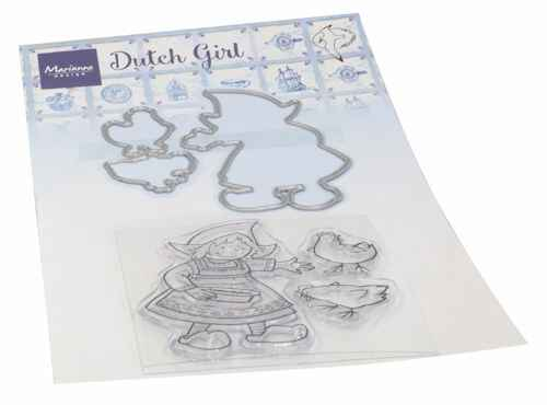 Clear stamp Hetty's Dutch girl  HT 1652