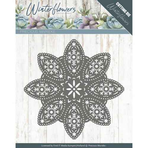 Winter Flowers - Floral Snowflake - PM10140