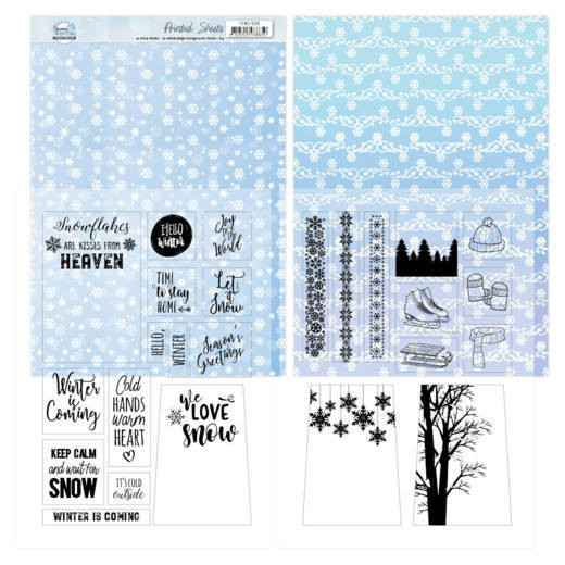 Mica Sheets - Yvonne Creations - Sparkling Winter  YCMC1006