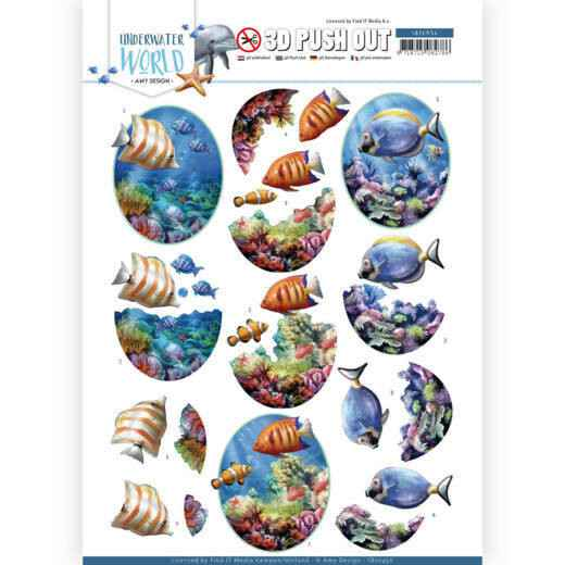 3D Push Out - Amy Design - Underwater World - Saltwater Fish Amy  SB10456