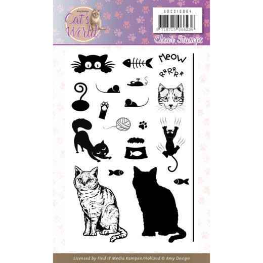Clear Stamps - Amy Design - Cats World  ADCS10064