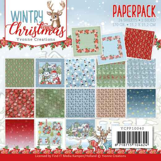 Paperpack - Yvonne Creations - Wintery Christmas  YCPP10040