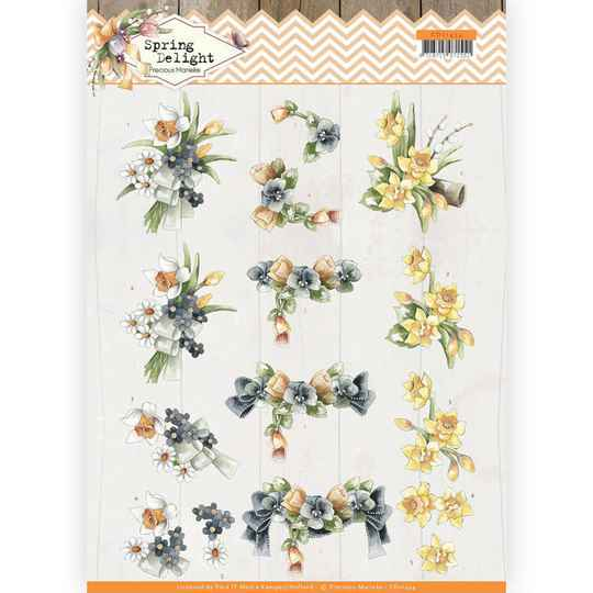 Precious Marieke - Spring Delight - Violets and Daffodils  CD11434