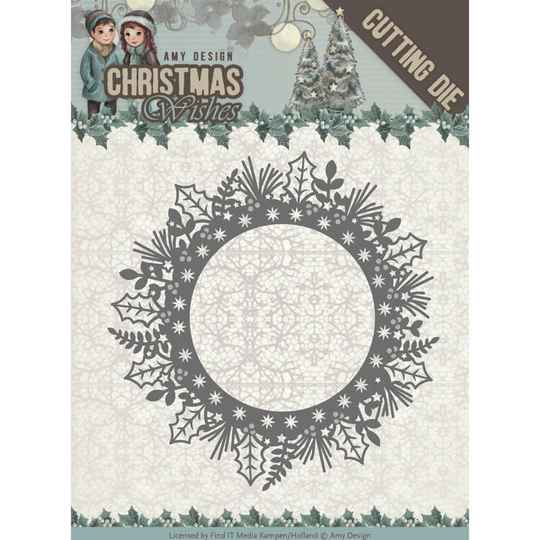 Amy Design - Christmas Wishes - Holly WreathADD10149