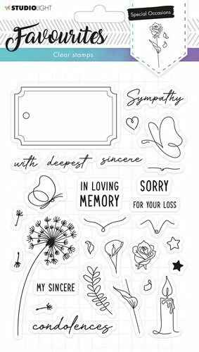 Studio Light Clearstempel A5 Favourites nr 487 - STAMPSL487