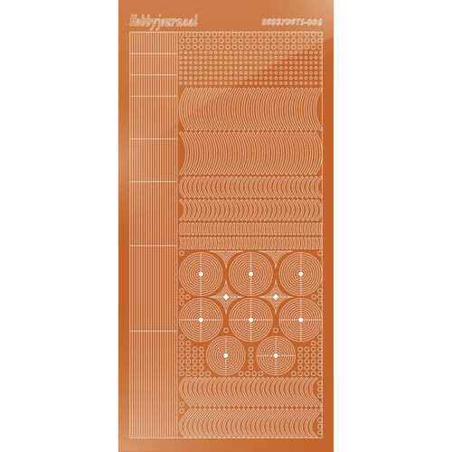 Hobbydots sticker - Mirror - Copper   STDM06B