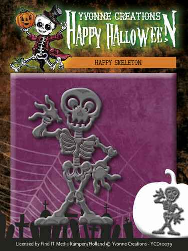 Yvonne Creations - Happy Halloween - Happy Skeleton   YCD10079