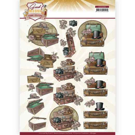 Yvonne Creations - Good old day's - Suitcase    CD11592