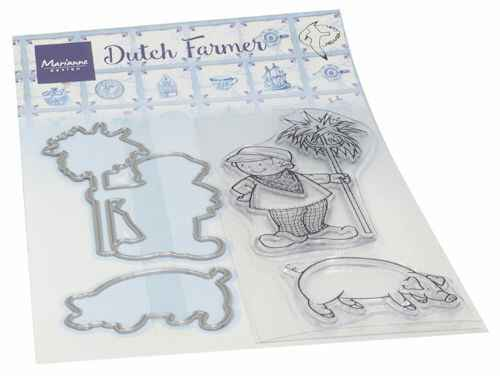 Clear stamp Hetty's Dutch farmer  HT 1653