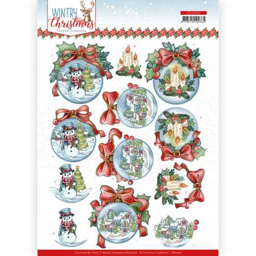 Yvonne Creations - Wintry Christmas - Christmas Baubles  CD11711