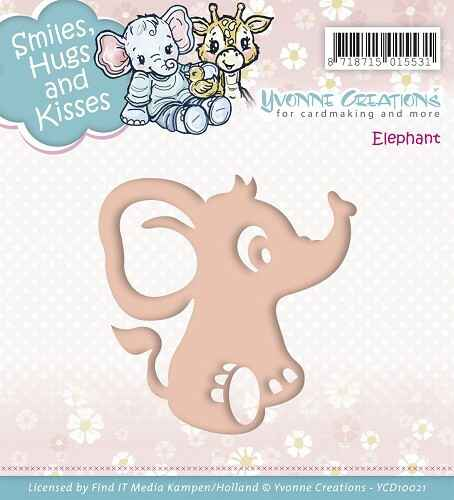 Yvonne Creations - Smiles, Hugs and Kisses - Elephant  YCD10021