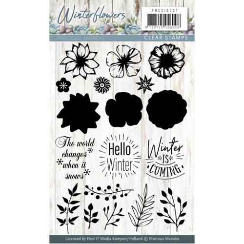 Clearstamp - Winter Flowers -  PMCS10037