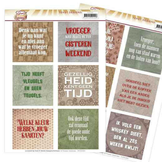 Tekst Designs - Yvonne Creations - Good old day's (NL)   YCTD1001