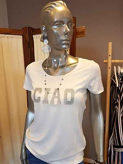 T-shirt Ciao - Off white