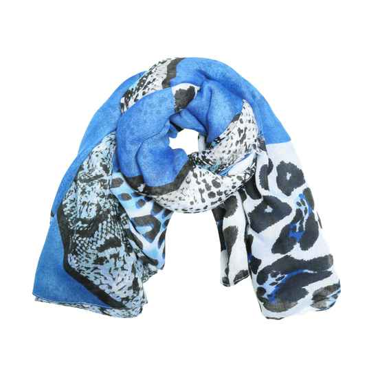 Shawl Tijgerprint - Blue