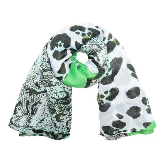 Shawl Tijgerprint - Green