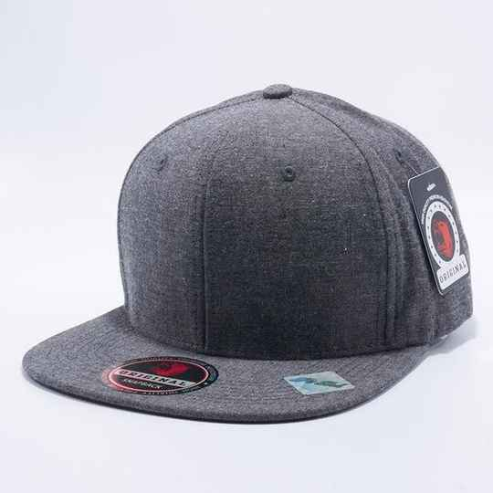 flat black 5 strip cap