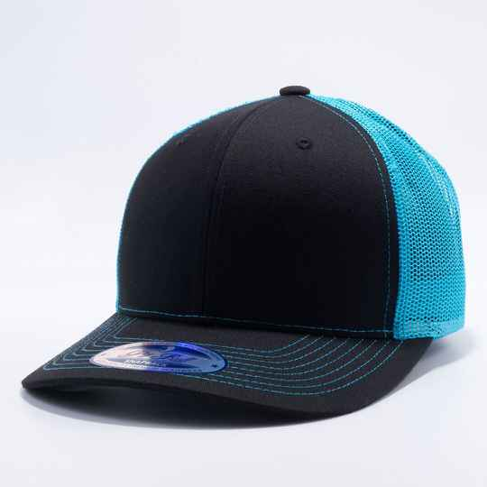 Trucker black and blue cap