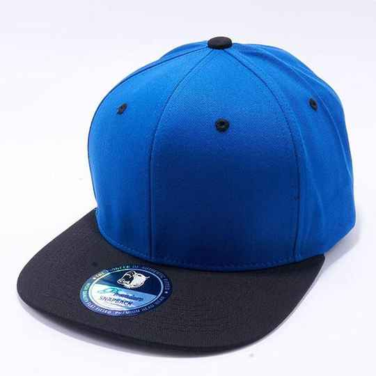 Black and blue strip cap