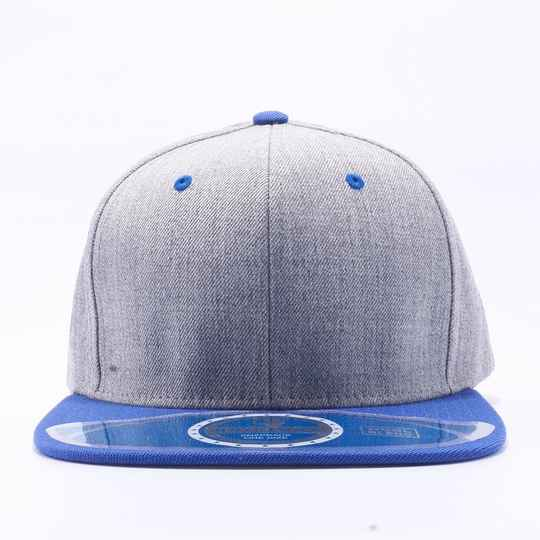 Grey and blue light pitbull cap