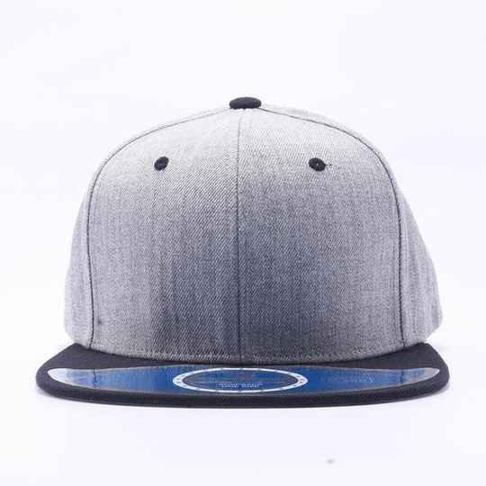 Grey and black 5 strip cap