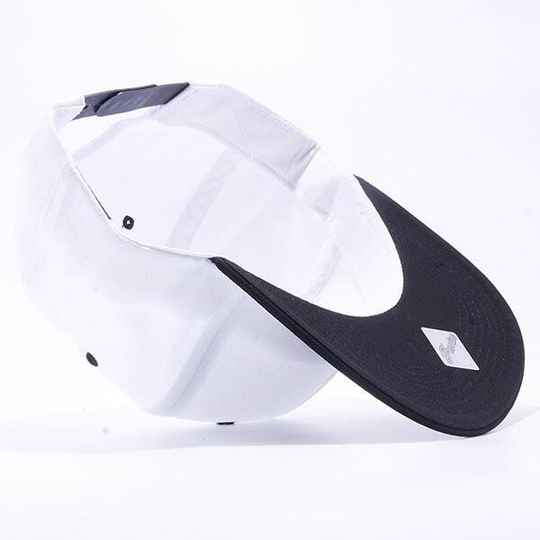 Black and white strip cap