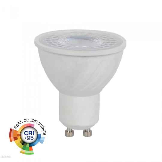 6W GU10 LED SPOT 2700K - Warm wit, CRI>95