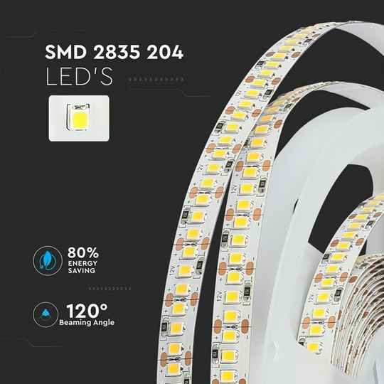 2835-204 18W/M LED STRIP 3000K/4000K/6000K IP20 (5M/ROLL)