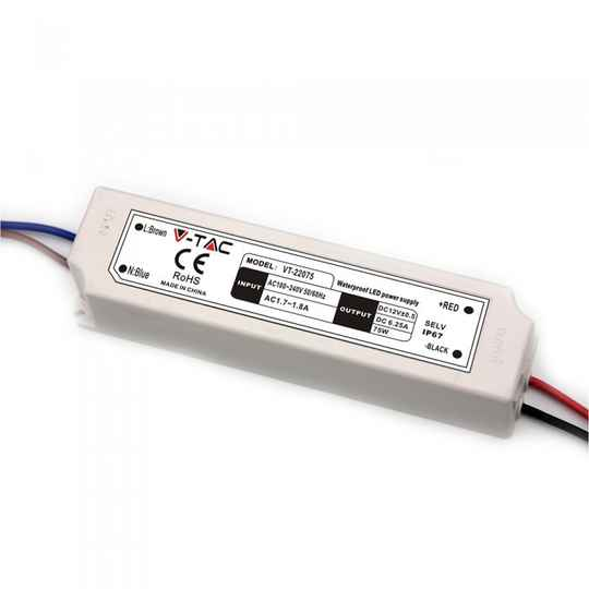 60W LED SLIM VOEDING 12V - IP67 waterdicht