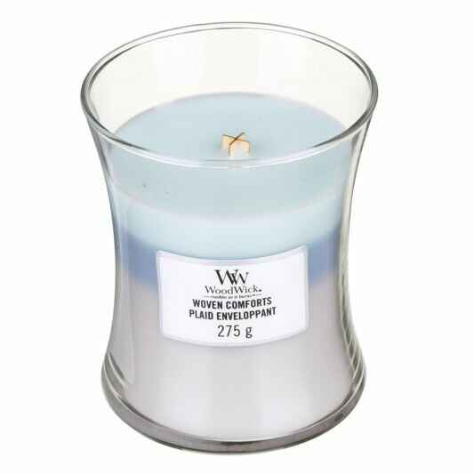 WoodWick Woven Comforts Medium Trilogy Candle