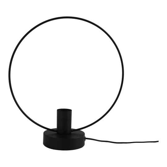 Metalen Cirkel Lamp-30x34-Zwart-Housevitamin