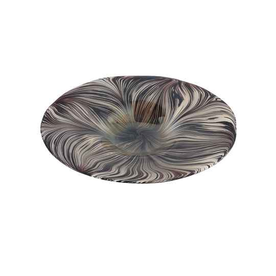Schaal - Dilano Brown glass decoration plate tiger print