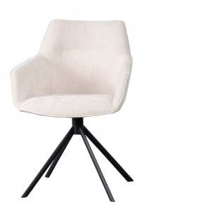 LIFESTYLE - JOHNSON ROTATING DINING CHAIR CROWN - ECRU