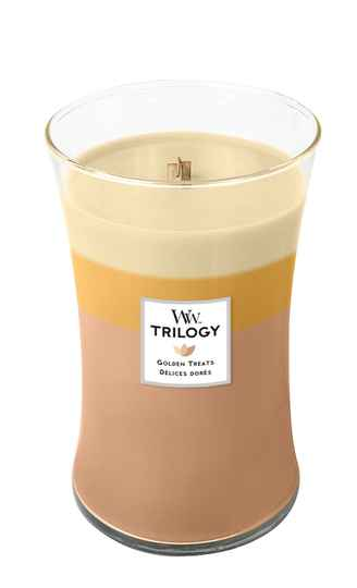 WoodWick Trilogy geurkaars Large Golden Treats