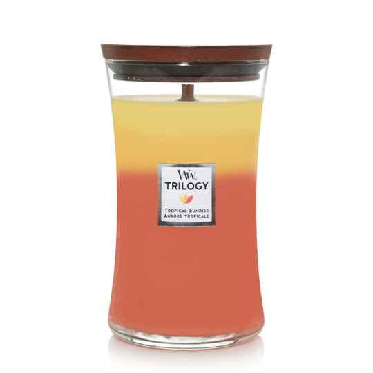 WoodWick Trilogy geurkaars Large Tropical Sunrise