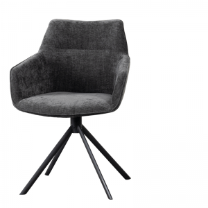 LIFESTYLE JOHNSON ROTATING DINING CHAIR CROWN  ANTHRACITE