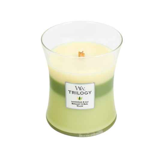 Garden Oasis Woodwick Trilogy Medium Candle